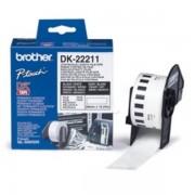 Brother Originale P-Touch QL 500 Etichette (DK-22211) bianco 29mm x 15,24m - sostituito Labels DK22211 per P-Touch QL500