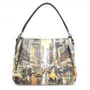 Y Not? Borsa Donna Y NOT a Spalla con Tracolla Media - K-321 Yellow Mood