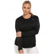 Nike Miler Long-Sleeve Running Top (Size 1X-3X) BlackReflective Silver