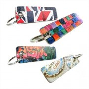 Unique Leder Schlüsselanhänger diverse Muster