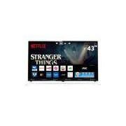 Smart TV LED 43 UHD 4K AOC LE43U7970 com Wi-Fi, App Gallery, Botão Netflix, Digital Noise Reduction, HDMI e USB