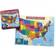 United States Of America Map Jigsaw Puzzle 60 Piece (Includes State Capitals)