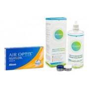 Air Optix Night & Day Aqua (6 linser) + Solunate Multi-Purpose 400 ml med linsetui