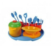 Set Tacamuri Si Oale Plastic Lena Jucarii Plastic 27 Piese Bon Appetit