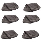 Kuhu Creations Washable Extra Thick 5 Layers Reusable Cloth Insert for Diaper/Nappy. (Grey 6 Unit)