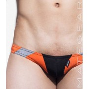 Mategear So Nam IV Flat Front Half Back Mini Bikini Swimwear Black/Orange/Grey 1370701