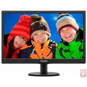 "18.5"" Philips 193V5LSB2/10, 16:9, 1366x768, 5ms, 700:1, 200cd/m2, VGA, black"