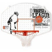 New Port basketbalring met bord 90 x 60 cm wit/oranje