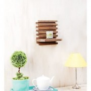 Onlineshoppee Beautiful Wooden Wall Rack Size (LxBxH-10x5x10) Inch Color-Netural