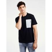 Guess T-Shirt Borstzakje - Zwart - Size: 2X-Large