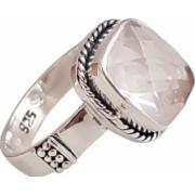 inel din argint cu piatra cuart roz IN1703
