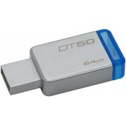 Stick USB Kingston DataTraveler 50, 64GB, USB 3.1 (Metal/Albastru)