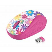 Mouse, TRUST Primo, Wireless, pink flowers (21481)