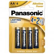 Baterii alcaline PANASONIC Power Lasting Energy LR6/AA, 6 buc/set