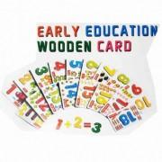 Joc educativ Cartonase cu Cifre din lemn