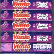 Vimto Chewy Sweets Stick Pack Chews Retro Sweets
