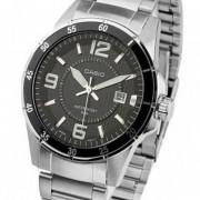 Reloj Casio Mtp-1291D - Plateado Con Negro