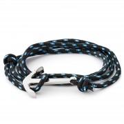 False Bracelet noir ancre de marin