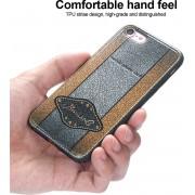 Telefoonhoesje.nl iPhone 8, Leather coated gel hoesje, Goud-zilver - Geschikt voor: Apple iPhone 8