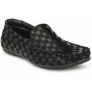 BIG JUNIOR Black Loafers For Men(Black)