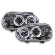 FK-Automotive fari Angel Eyes VW Golf 4 tipo 1J anno di costr. 98-03 cromati
