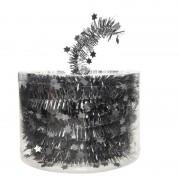 Geen Antraciet kerstversiering folie slinger met ster 700 cm