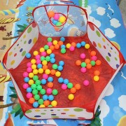 ER Polka Dot Pattern Casa Carpa Plegable Kids Play&Outdoor Indoor Tienda Baloncesto