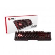Клавиатура MSI Vigor GK60, гейминг, механична (Cherry MX Red Switches), RGB, черна, USB