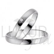 Luxusní zlaté snubní prsteny bílé zlato 436-508-509 - cena 1ks