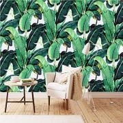ponana Papel Tapiz Mural Personalizado 3D Planta Tropical Hoja De Plátano Pintura De Pared Sala De Estar Dormitorio Decoración Del Hogar Arte 3D Pegatinas De Pared-150X120Cm