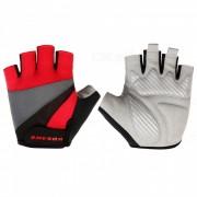 WOSAWE Unisex antideslizante guantes de medio dedo para el ciclismo - rojo (M)