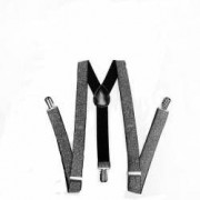 Bretele Suspenders negru argintiu VIVO