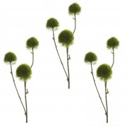 Bellatio flowers & plants 3x stuks groene anjer kunsttakken van 58 cm - Kunstplanten