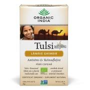 Ceai Tulsi (Busuioc Sfant) cu Lamaie si Ghimbir Antistres Natural & Reinsufletire, cutie 100 g -