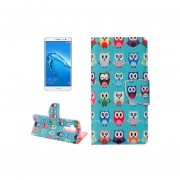 Huawei Nova Plus Lovely Cartoon Owls Pattern Horizontal Flip Leather Case With Holder And Card Slots And Wallet