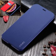 X-LEVEL Leather Stand Phone Cover Case with Card Slot for iPhone 11 Pro Max 6.5-inch - Dark Blue