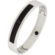 ZIVOM German Luxury Designer Silver Black 316L Surgical Stainless Steel Kada Bangle Bracelet Stylish For Men