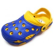 Angel Fashion Shell Shock croc with free leather key chain Clogs For Men(Yellow, Blue)