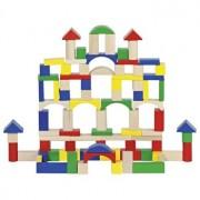 Set constructie 100 cuburi lemn