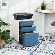 Bighome.cz Bighome - Zásuvkový kontejner - bílá, modrá