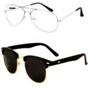 Barbarik Aviator, Clubmaster Sunglasses(Clear, Black)