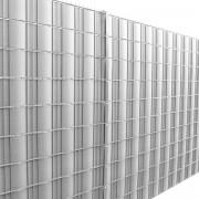 Фолио за ограда [neu.haus] ®, предпазва от любопитни погледи, вятър или звукове, 19 cm x 35 m/ 7m², Сребристо, с UV защита