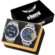 Skemi Analog Round Dial Men Watch / Fashionable Stainless Men Watch / Watches For Men Combo-054