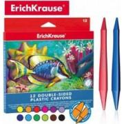 Set creioane plastifiate cu 2 capete ErichKrause 12 culori
