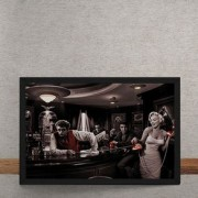 Quadro Decorativo Bar Marylin Monroe Elvis Presley James Dean Humphrey Bogart 25x35