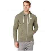 Nike NSW Heritage Hoodie Full Zip Olive CanvasHeatherSail