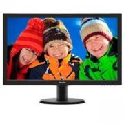 Монитор Philips 243V5QSBA, 23.6 инча Wide MVA LED, 8 ms, 3000:1, 10M:1 DCR, 250 cd/m2, 1920x1080 FullHD, D-Sub, DVI, Черен, 243V5QSBA/01