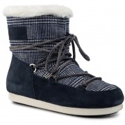 Апрески MOON BOOT - Mb Far Side Low Fur/Tartan 24201100001 Navy Blue