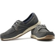 Clarks Ramada English Corporate Casuals For Men(Grey, Navy)