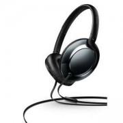 Philips Слушалки с микрофон 32 мм мембрани/затворен гръб, с наушници, меки възглавнички за уши, плоско сгъване, цвят черен, SHL4805DC